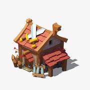 Viking house 02 3d model
