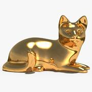 조각 동물 2 장식 3d model