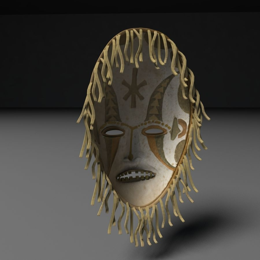 Voodoo Mask royalty-free 3d model - Preview no. 2