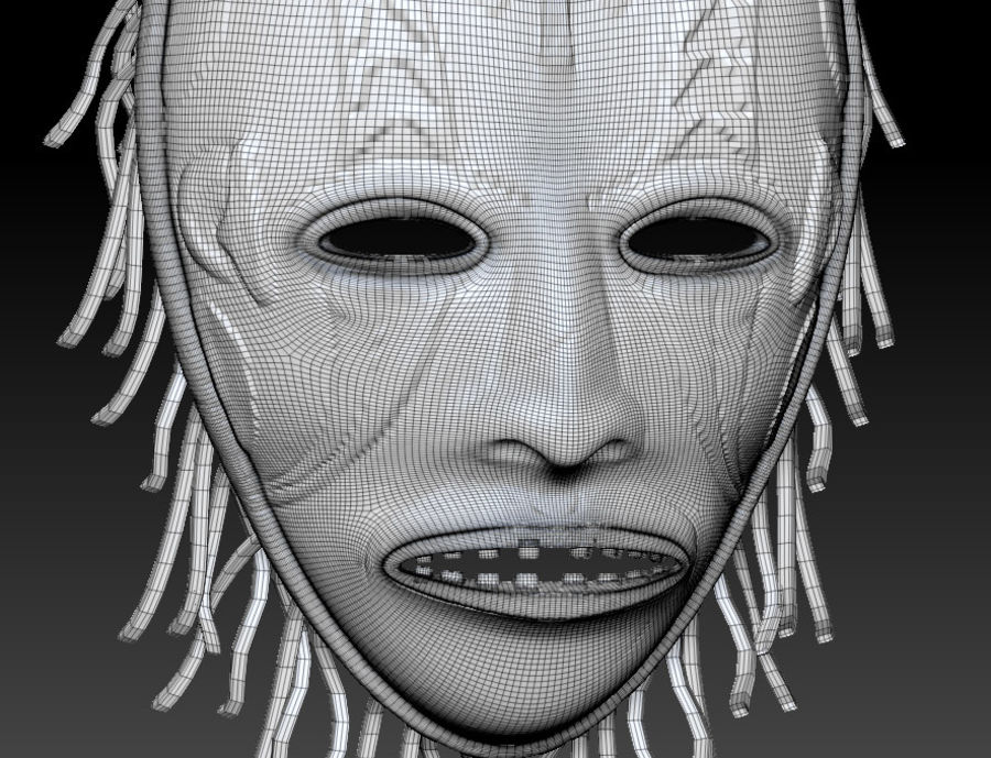 Voodoo Mask royalty-free 3d model - Preview no. 6