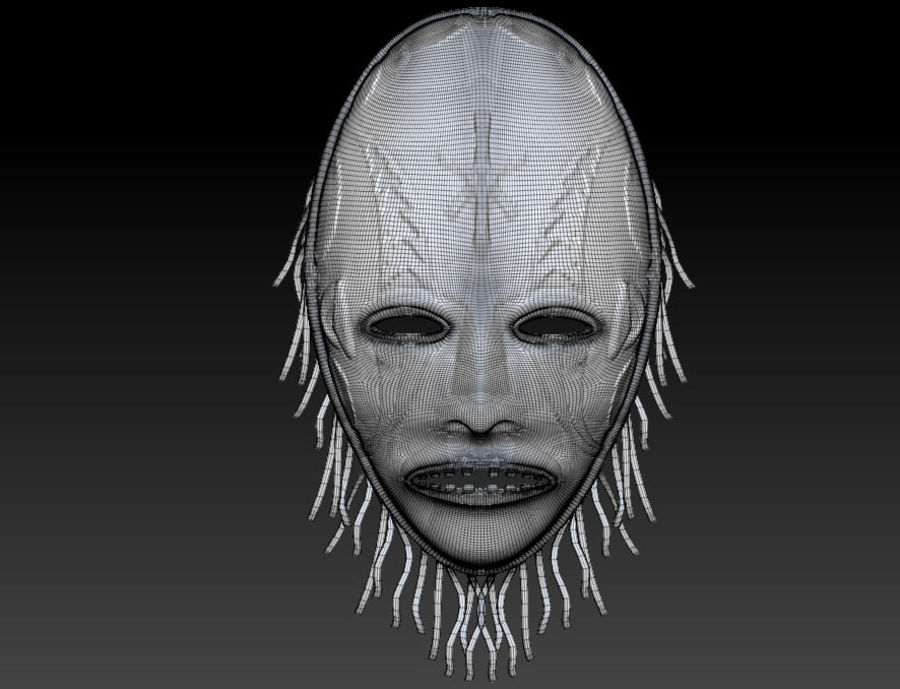 Voodoo Mask royalty-free 3d model - Preview no. 5