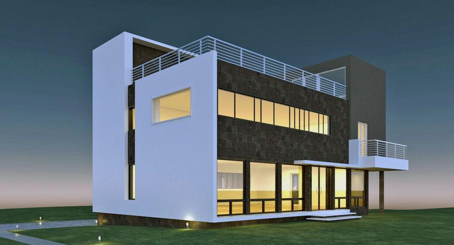 Hus Modern Arkitektur royalty-free 3d model - Preview no. 3