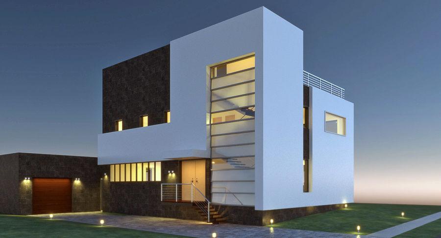 Hus Modern Arkitektur royalty-free 3d model - Preview no. 2