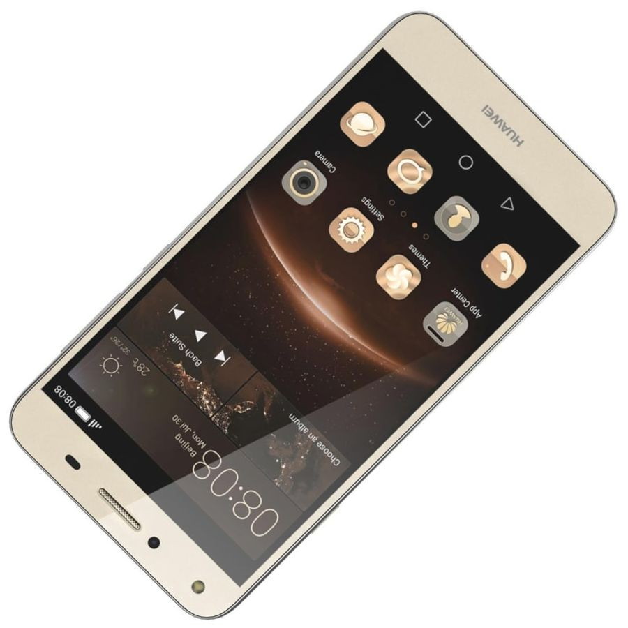 Huawei Y5II Gold royalty-free 3d model - Preview no. 13