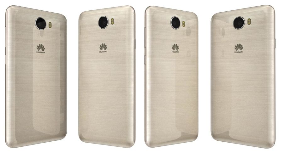 Huawei Y5II Gold royalty-free 3d model - Preview no. 4