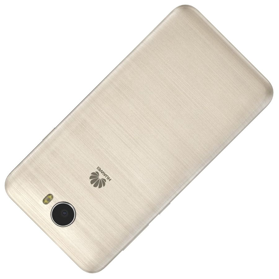 Huawei Y5II Gold royalty-free 3d model - Preview no. 18
