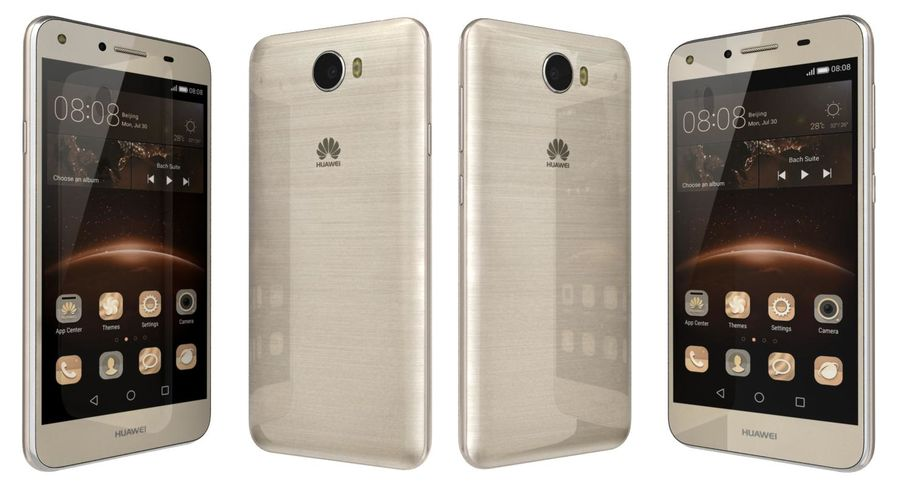Huawei Y5II Gold royalty-free 3d model - Preview no. 1