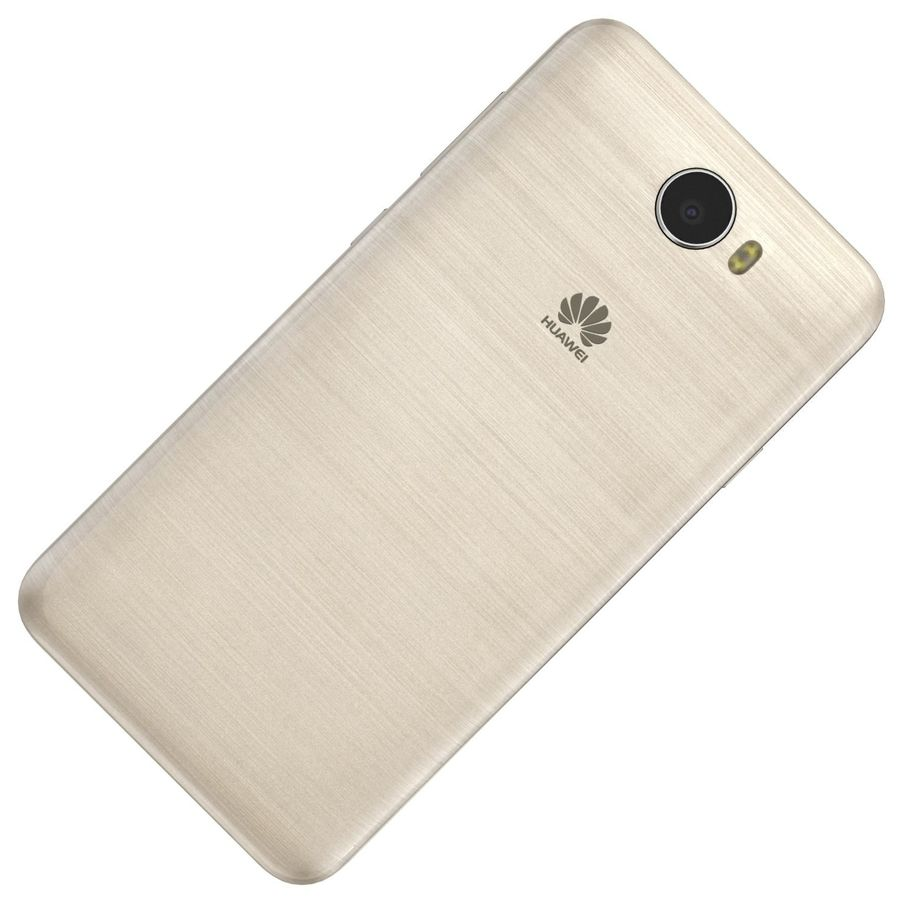 Huawei Y5II Gold royalty-free 3d model - Preview no. 16
