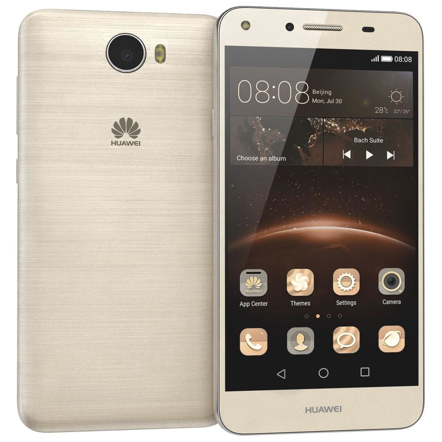 Huawei Y5II Gold royalty-free 3d model - Preview no. 2