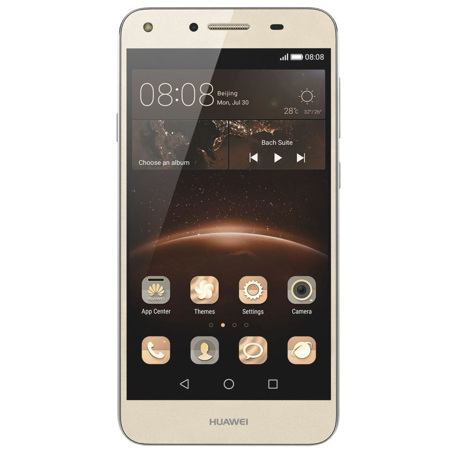 Huawei Y5II Gold royalty-free 3d model - Preview no. 8