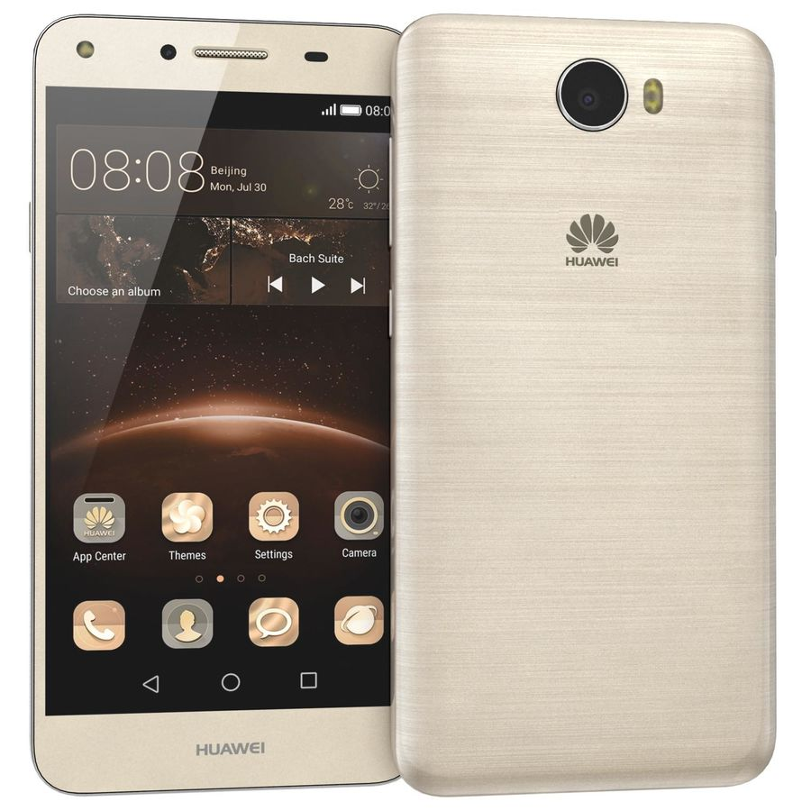 Huawei Y5II Gold royalty-free 3d model - Preview no. 3