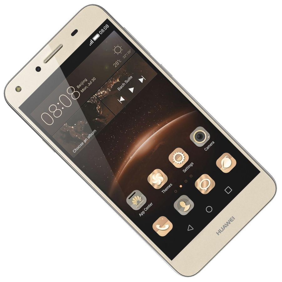 Huawei Y5II Gold royalty-free 3d model - Preview no. 14