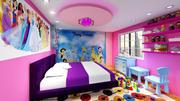 Pokój dziewczynki 3d model