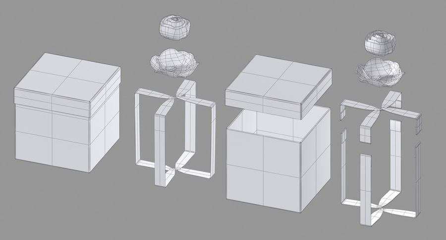 Geschenkbox royalty-free 3d model - Preview no. 17