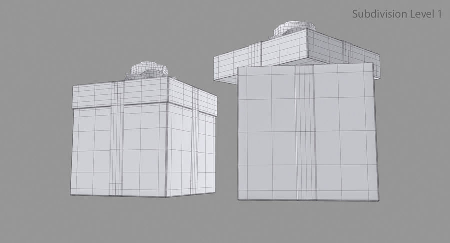 Geschenkbox royalty-free 3d model - Preview no. 12