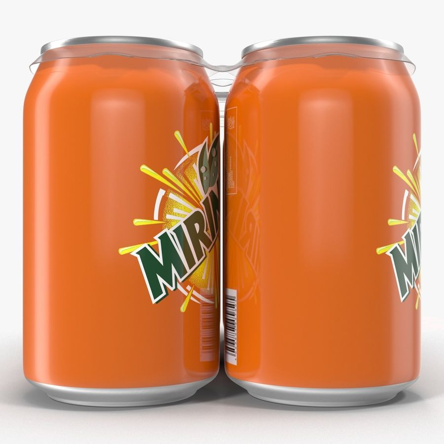 Six Pack of Cans Mirinda 3D Model royalty-free 3d model - Preview no. 13
