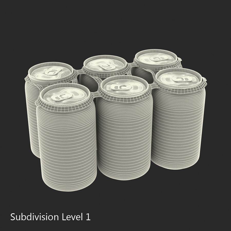 Six Pack of Cans Mirinda 3D Model royalty-free 3d model - Preview no. 28
