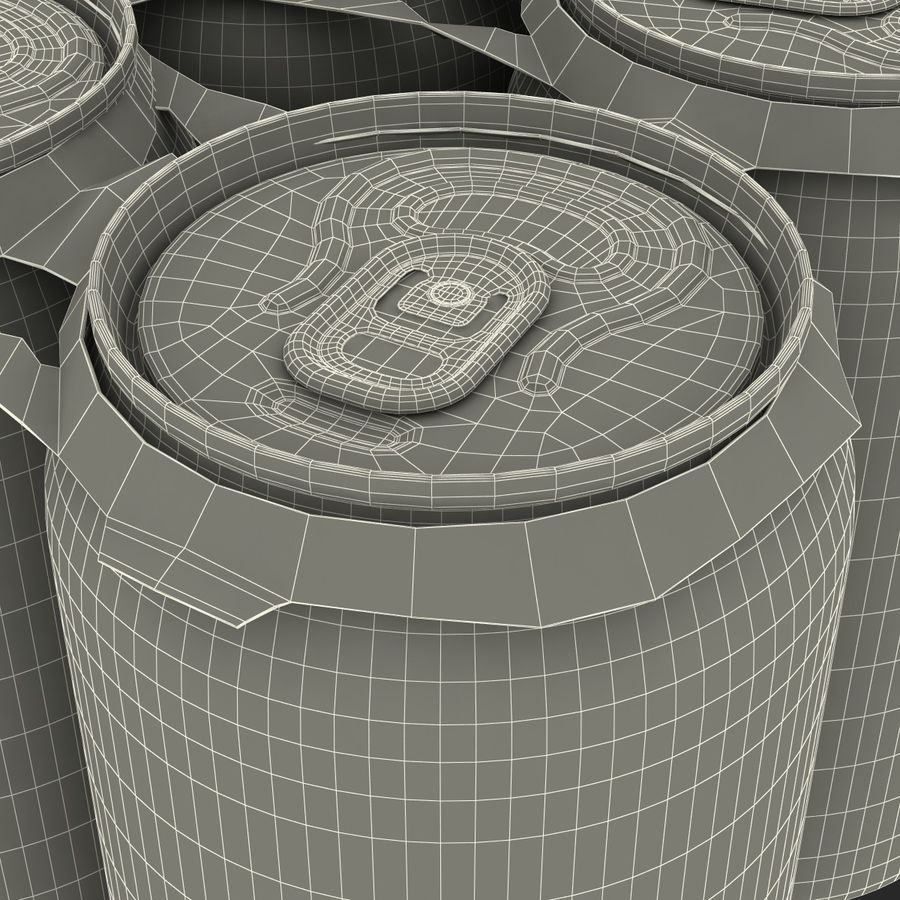 Six Pack of Cans Mirinda 3D Model royalty-free 3d model - Preview no. 40