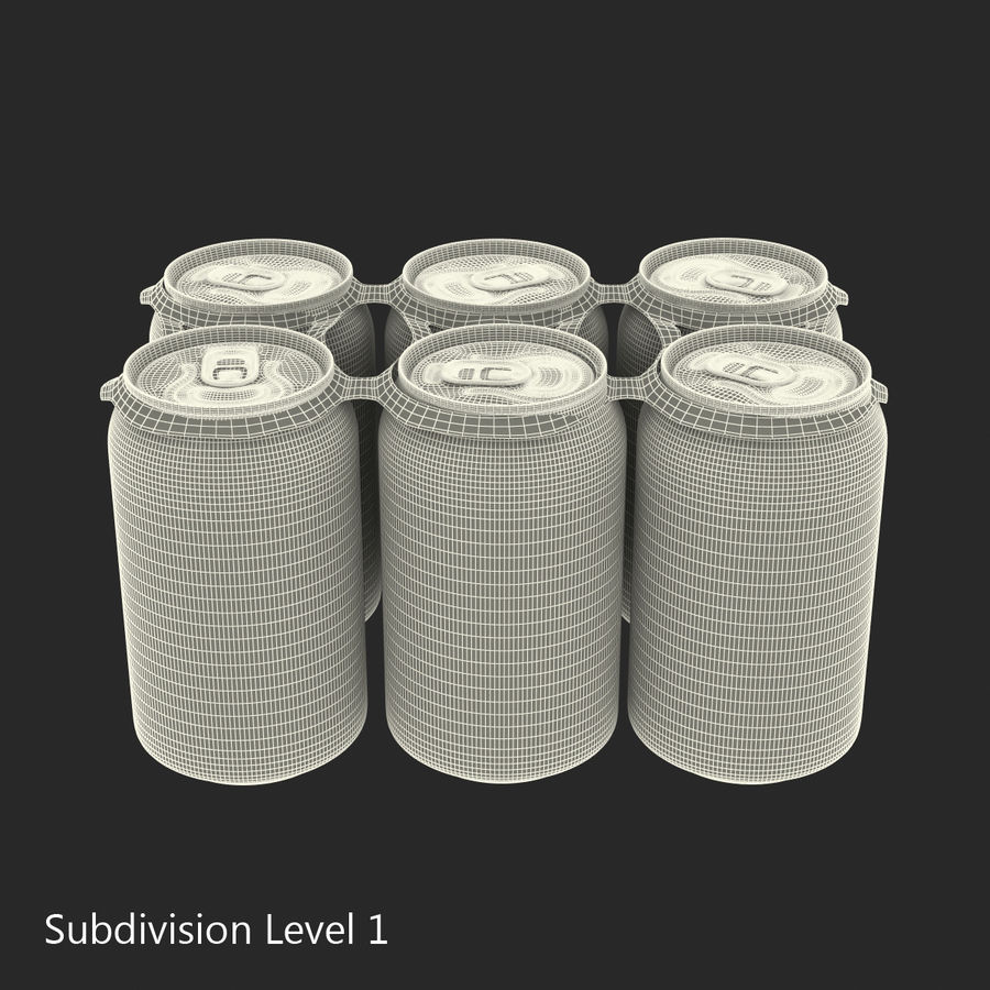 Six Pack of Cans Dr Pepper Zero Modello 3D royalty-free 3d model - Preview no. 14
