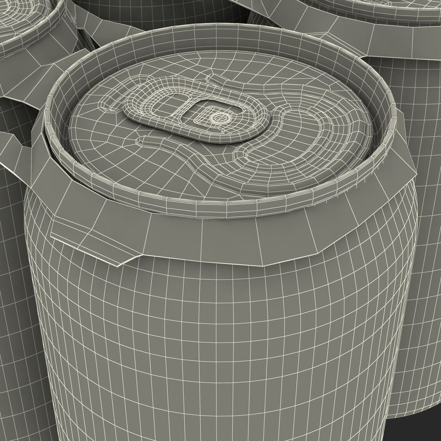 Six Pack of Cans Dr Pepper Zero Modello 3D royalty-free 3d model - Preview no. 20