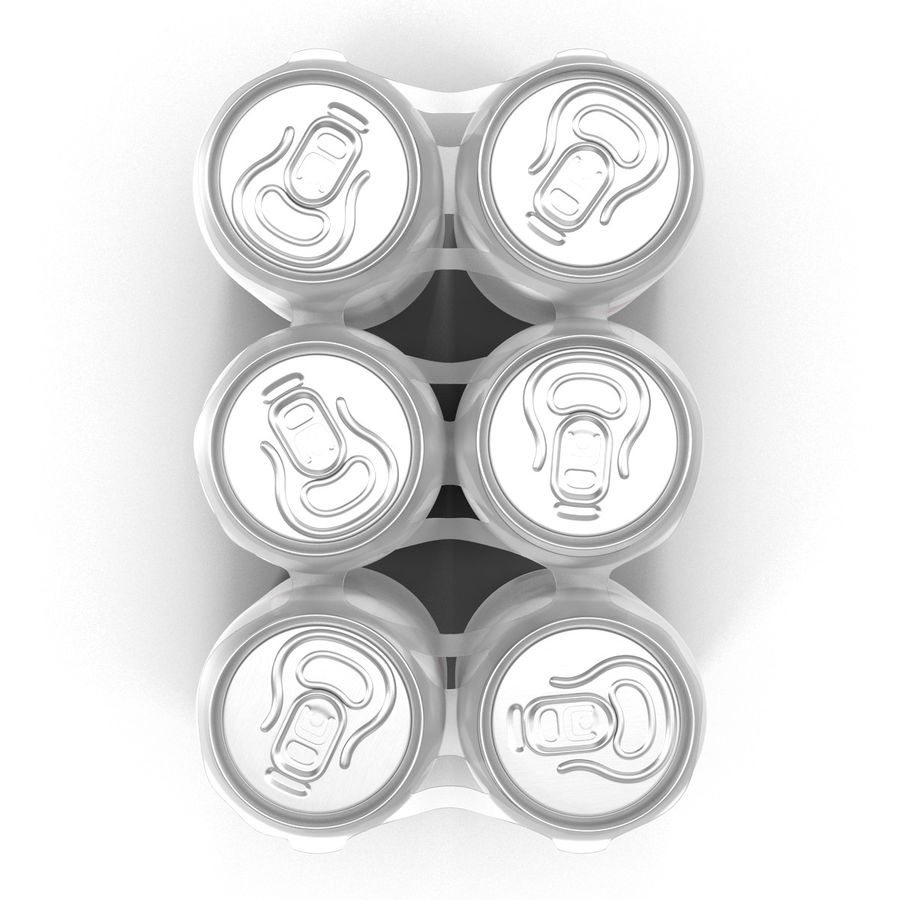 Six Pack of Cans Dr Pepper Zero 3D Model royalty-free 3d model - Preview no. 8