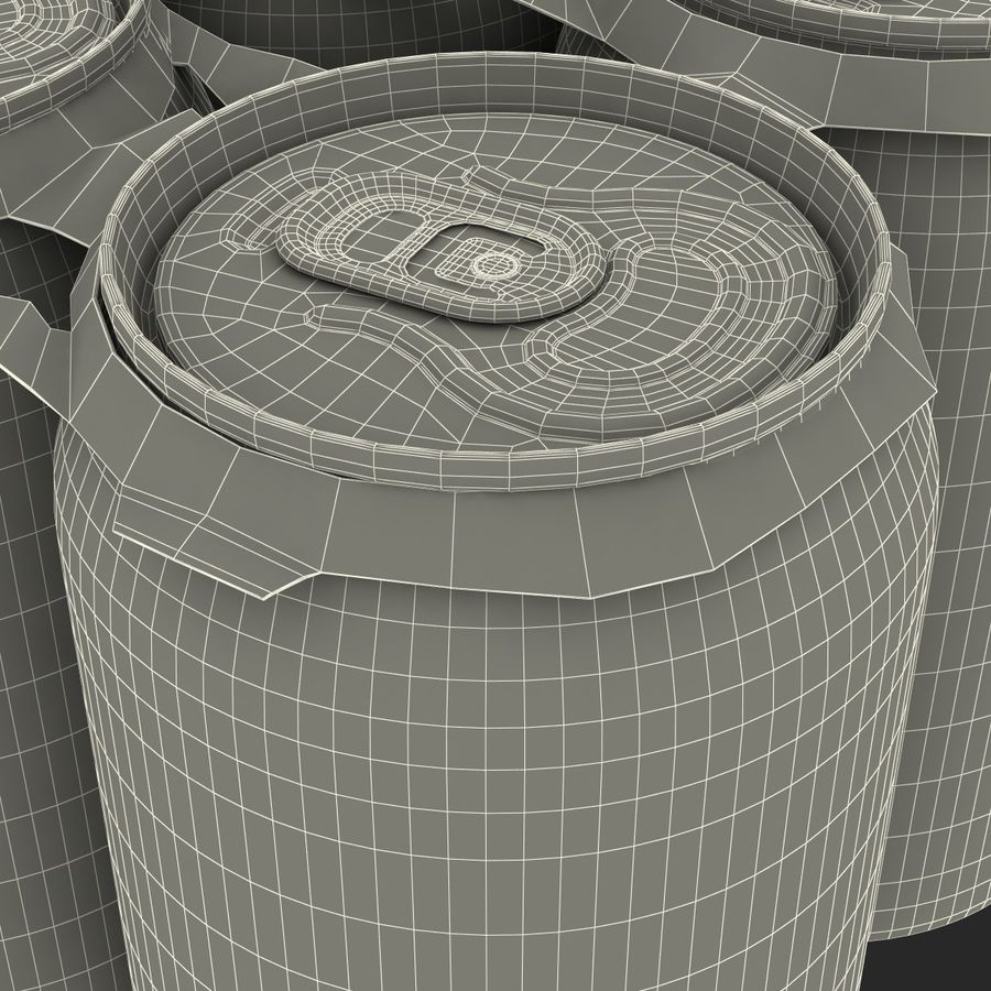 Six Pack of Cans Dr Pepper Zero 3D Model royalty-free 3d model - Preview no. 20