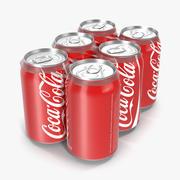 Six Pack of Cans Coca-Cola 3D Model 3d model