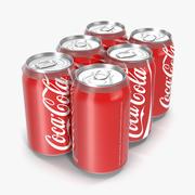 Six Pack of Cans Modello 3D Coca-Cola 3d model