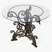 둥근 위조 테이블 3d model