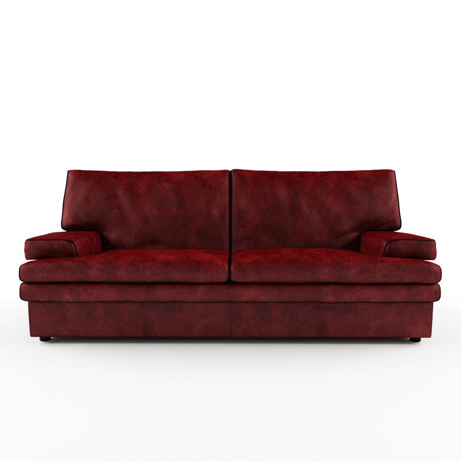 - Burgundy Leather Sofa 3D Model $39 - .obj .fbx .max - Free3D