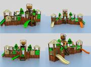 djungel vattenlek 3d model