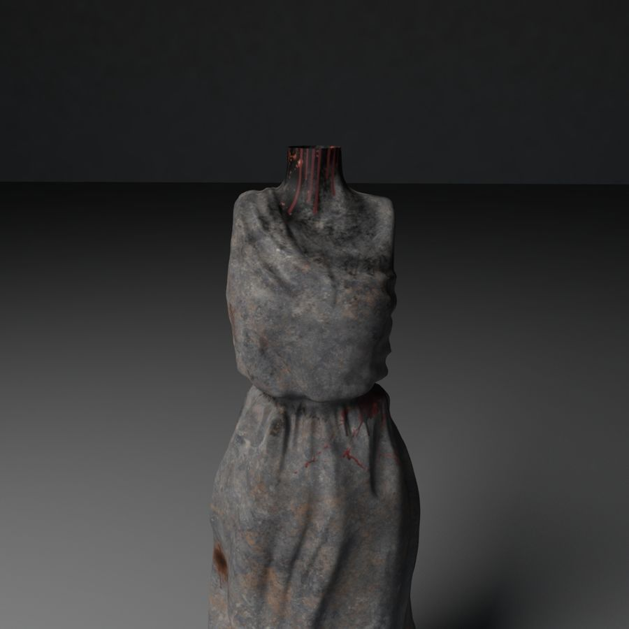 Creepy Statue royalty-free 3d model - Preview no. 3