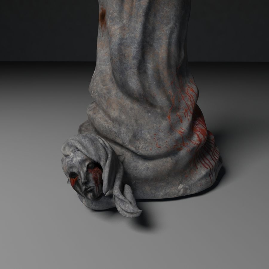 Creepy Statue royalty-free 3d model - Preview no. 2
