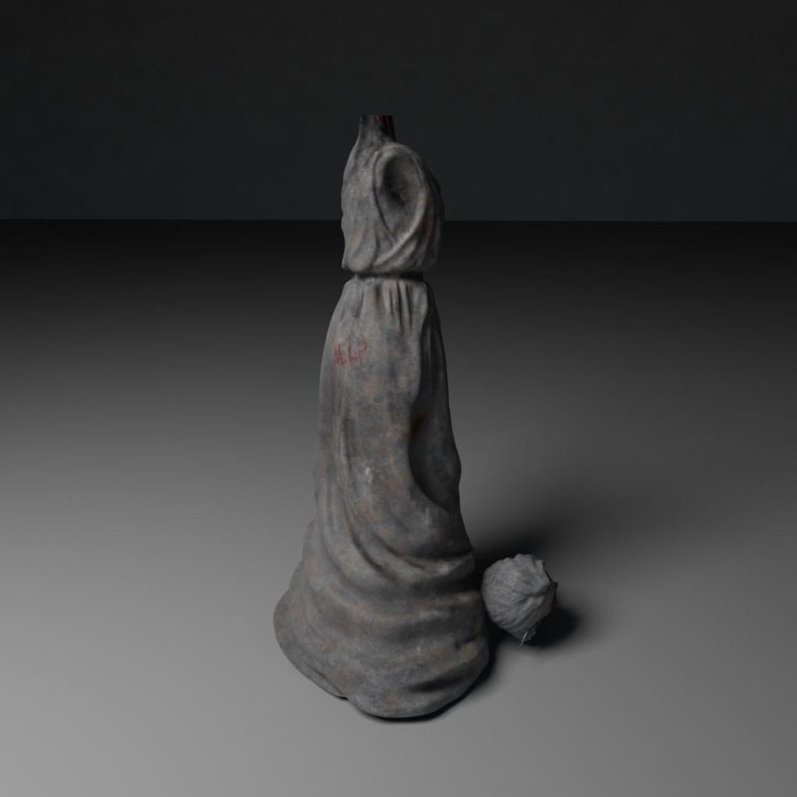 Creepy Statue royalty-free 3d model - Preview no. 4