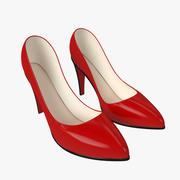 Zapato Tacones Altos Clásico Rojo modelo 3d