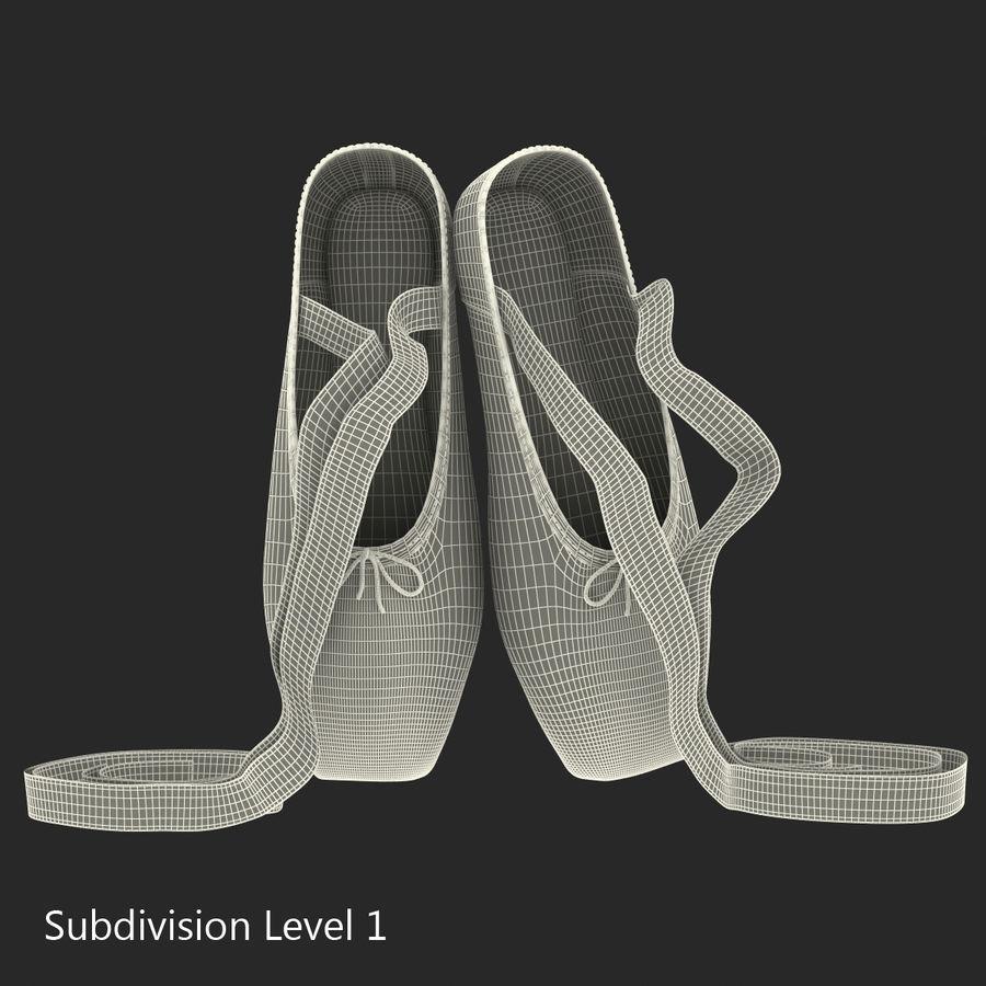 Zapatos de ballet rosados royalty-free modelo 3d - Preview no. 11