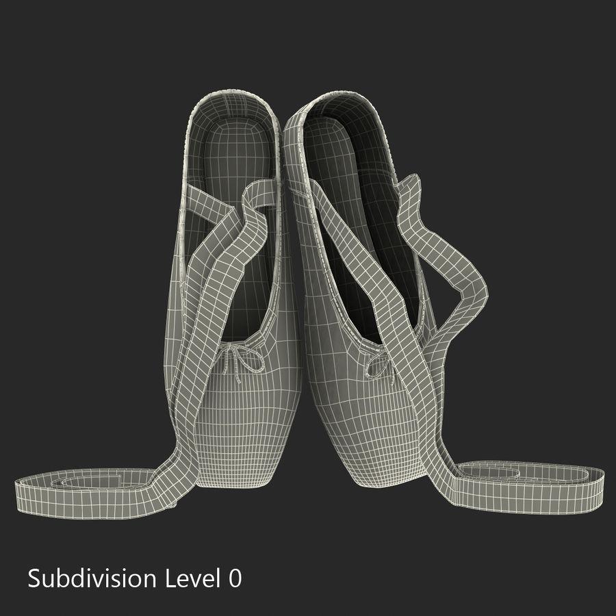 Zapatos de ballet rosados royalty-free modelo 3d - Preview no. 10