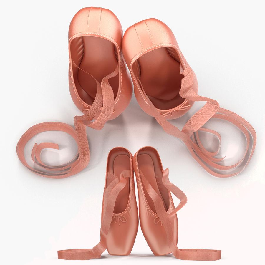 Zapatos de ballet rosados royalty-free modelo 3d - Preview no. 3