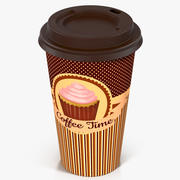 Coffee Cup Empty Takeout Design 2 3d model