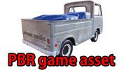 PBR Old Minitruck Lowpoly 3d model