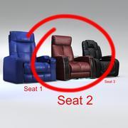Seat Cave man 3 3d model