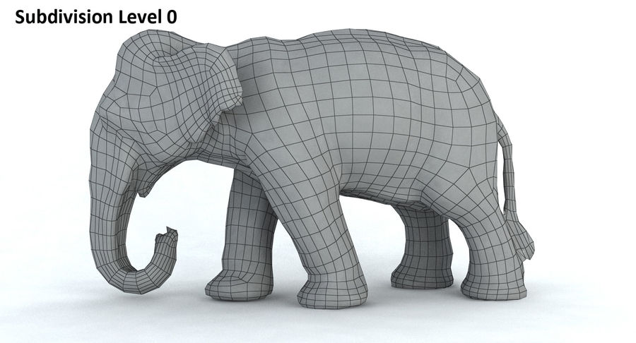 Elephant royalty-free 3d model - Preview no. 12