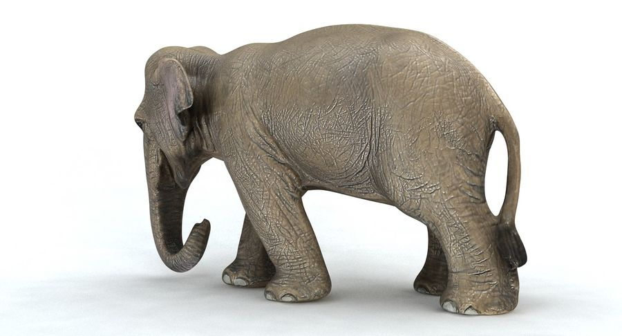 Elephant royalty-free 3d model - Preview no. 11