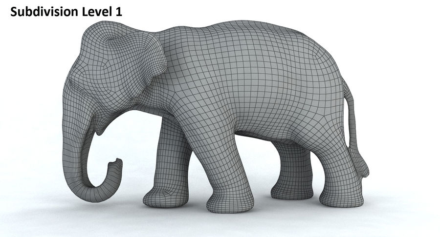 Elephant royalty-free 3d model - Preview no. 13