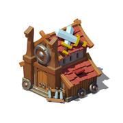 Viking house 03 3d model