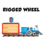 treno dei cartoni animati truccato 3d model