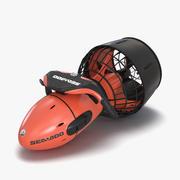Diver Propulsion Vehicle Sea-Doo Red 3D模型 3d model