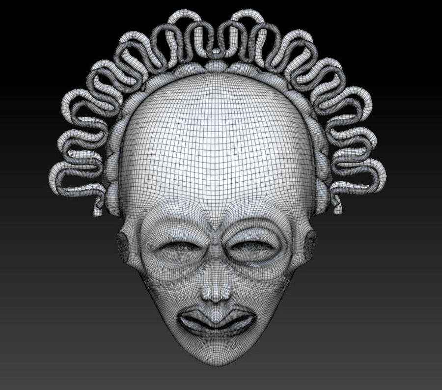 Voodoo Mask royalty-free 3d model - Preview no. 3