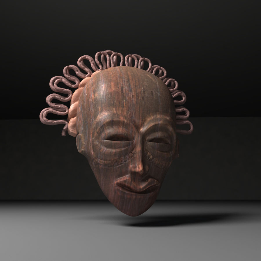 Voodoo Mask royalty-free 3d model - Preview no. 1