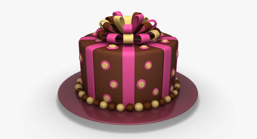 Cake royalty-free 3d model - Preview no. 2